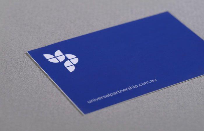 Universal Partnership business card