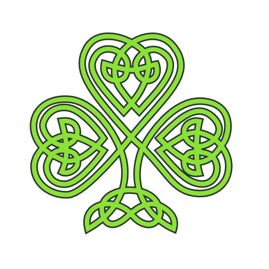 saint patricks day celtic shamrock  SVG - All sizes free downloads!