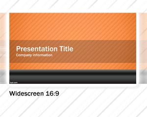 This orange widescreen PowerPoint template design is a free PowerPoint template for widescreen or onscreen presentations