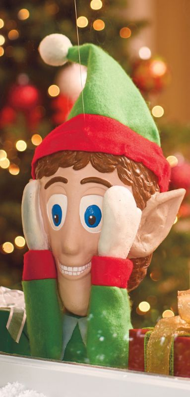Surprise and delight all comers with our mischievous Santa's Little Helper.