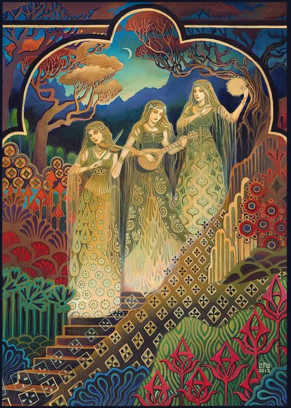 The Sisters of Mercy Music Goddess Art 5x7 by EmilyBalivet on Etsy