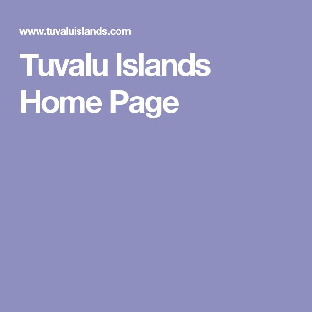 Tuvalu Islands Home Page