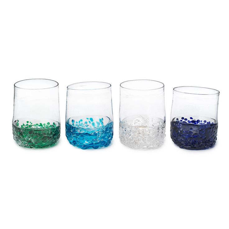 ON THE ROCKS LOWBALL GLASSES   Blown Glass, Recycled Glassware, Nature Inspired, Scotch   UncommonGoods