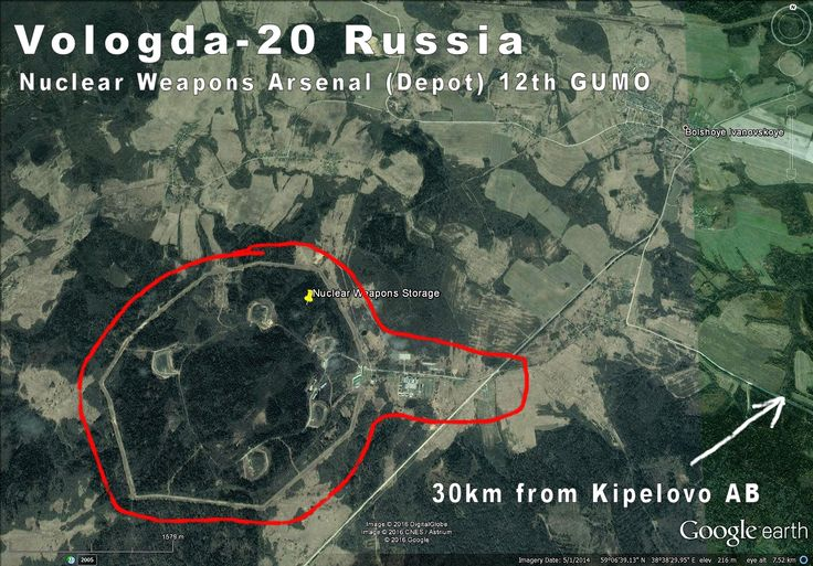 Vologda-20 Russia, Nuclear Weapons Arsenal (depot).