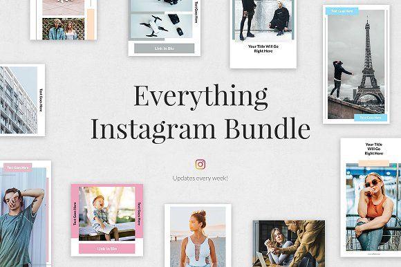 Everything Instagram Bundle By Social Corner Graphics On Creativemarket