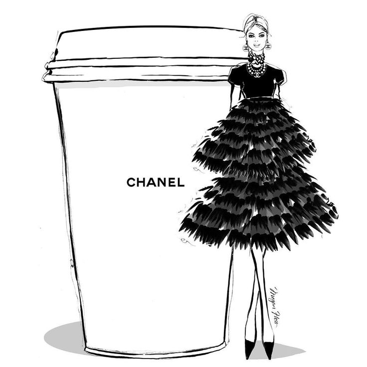 """4,300 Likes, 43 Comments - Megan Hess (@meganhess_official) on Instagram: """"I'd like a double shot and extra frill on my CHANEL Coffee today! #MeganHessCoffeeGirls"""""""