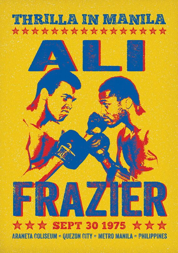 Thrilla in Manila Fight Poster A2 by TheStereoTypist on Etsy