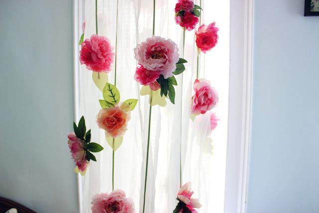 DIY Pottery Barn flower canopy