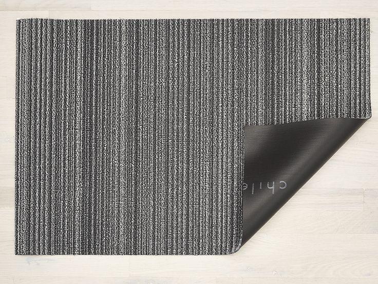 Skinny Stripe Shag Mat in Shadow (36''x60'') Chilewich