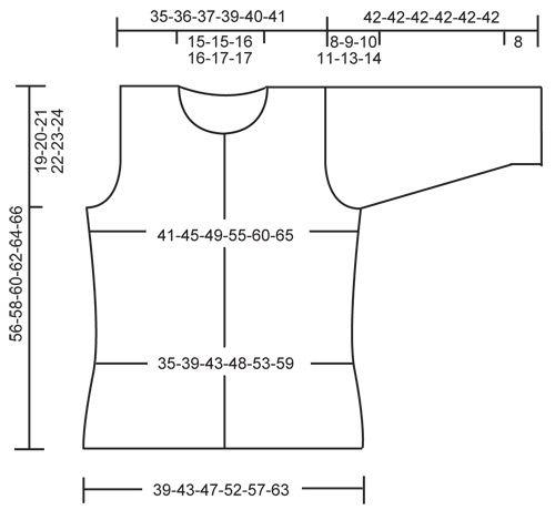 """DROPS 113-34 - DROPS jakke i """"Symphony"""" med ¾-lange ærmer, bred forkant og rullekanter. Str S til XXXL - Free pattern by DROPS Design"""