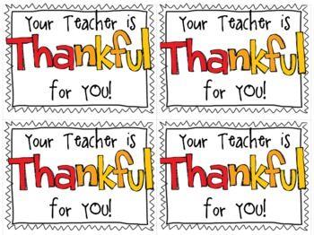 Thanksgiving Treat Tags Freebie