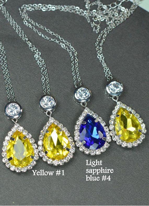 Yellow Wedding Jewelry yellow Bridesmaid Gift by thefabbridal3