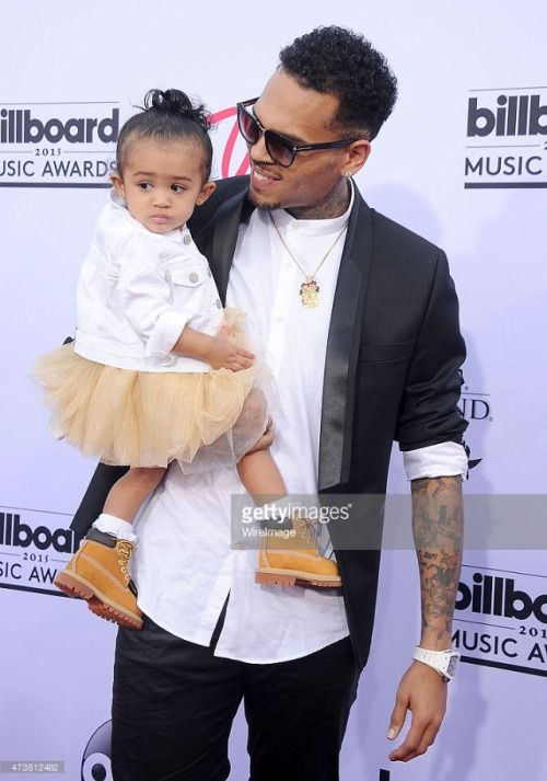 Chris Brown and his daughter fyre