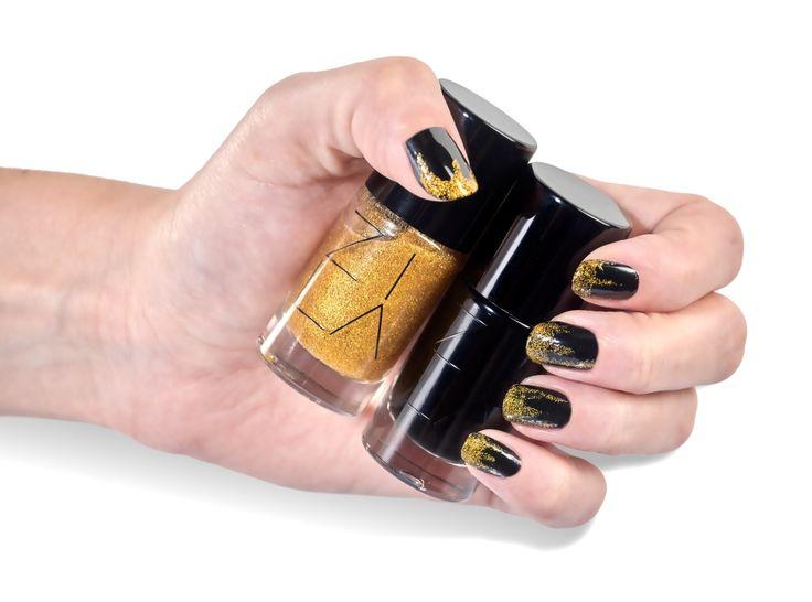Czerń i złoto, nieśmiertelna klasyka <3   #zila #zilanails #zilalakiery #lakieryzila  #mani #manicure #nailart #nailporn #nails #paznokcie #drogeriapl #drogeria.pl