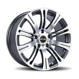 "RIVA MVE in Gun Metal Grey Specification: Size: 18"" x Width:8.0J or 8.5J Fitment: 5 stud only  PRICE, SET OF 4 £432"