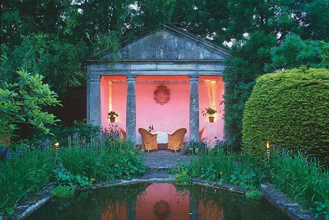 Enchanting Gothic style folly in the garden at Barnsley house in Gloucestershire that once belonged to Rosemary Verey and is now a small hotel. Thank you @barnsley_house for the picture #beauty #style #design #hotel #colour #garden #fun #cool #holiday