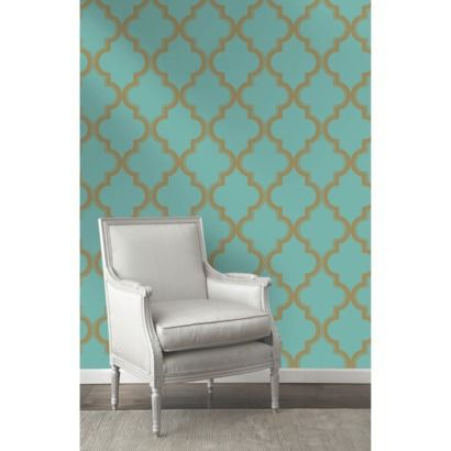 Devine Color Cable Stitch Wallpaper - Pond | couldn't believe it when I saw wallpaper today at target!!! $30