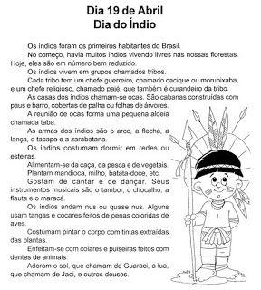 160 Atividades Dia do Índio - ESPAÇO EDUCAR