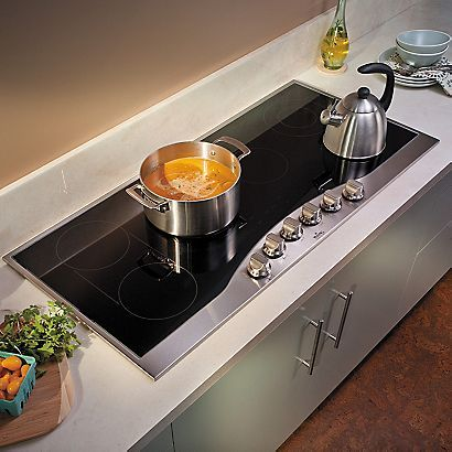 "45"" Electric Cooktop (RDECU) in Stainless Steel/Black - Viking Range Corporation"