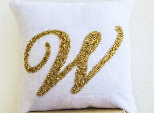 Initial Pillow Covers Interesting 41 Best Customized Monogram Pillow Images On Pinterest  Monogram Design Decoration