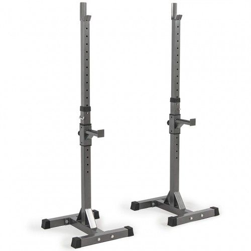 AKONZA 2PCS Adjustable Rack Solid Steel Standard Squat Barball Free Press Bench Equipment Training Cross Fit