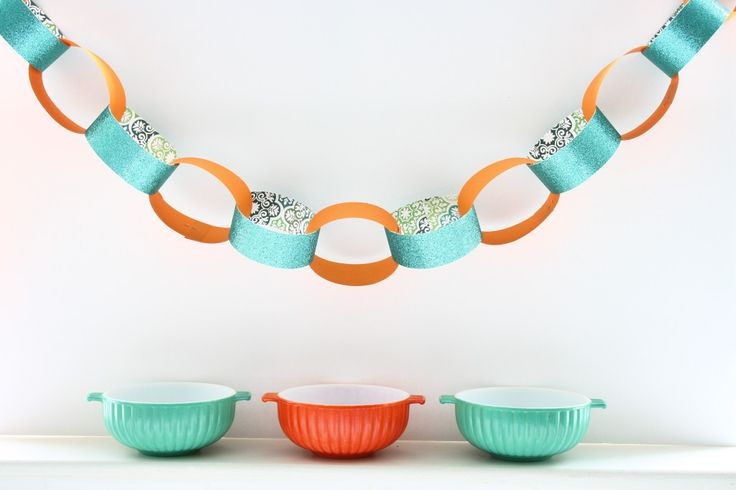 2 Ideas For Making Pretty Paper Chains - Porter House Designs