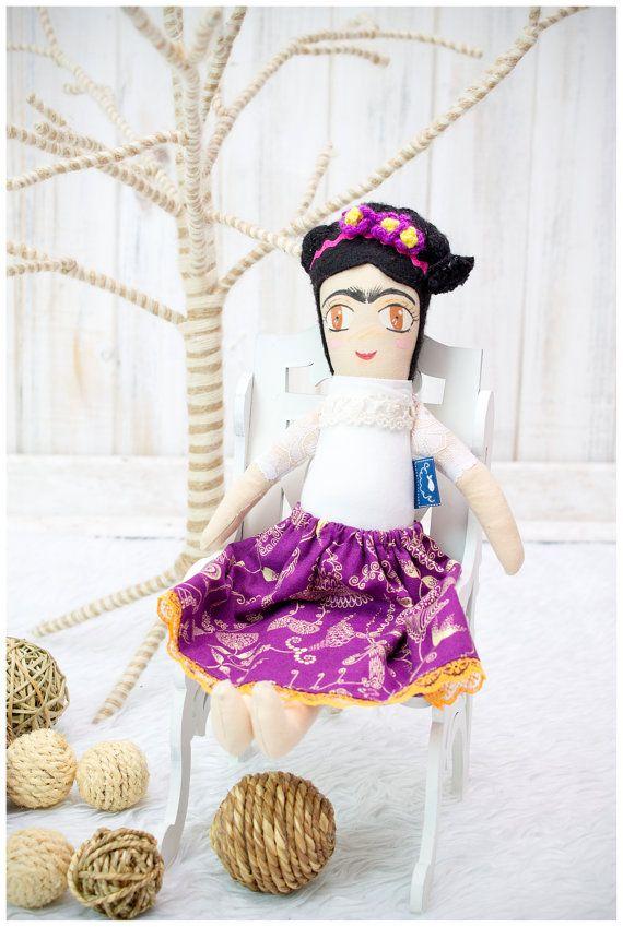 Muñecas de Frida muñeca, muñeca de trapo, muñeca de trapo de Frida hecho a mano, hecha a mano muñeca, trapo, muñeca de tela, trapo mexicanas muñecas, Frida, muñeca de trapo