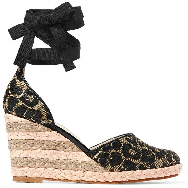 Sophia Platform Espadrille Sandal-Leopard