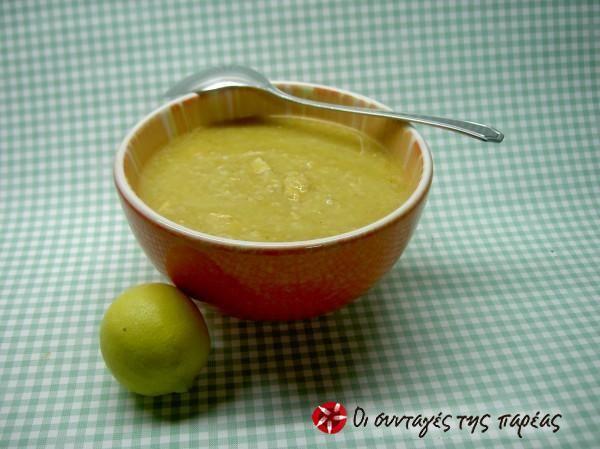 Χειμωνιάτικη σούπα με χοιρινό και τραχανά γλυκό #sintagespareas