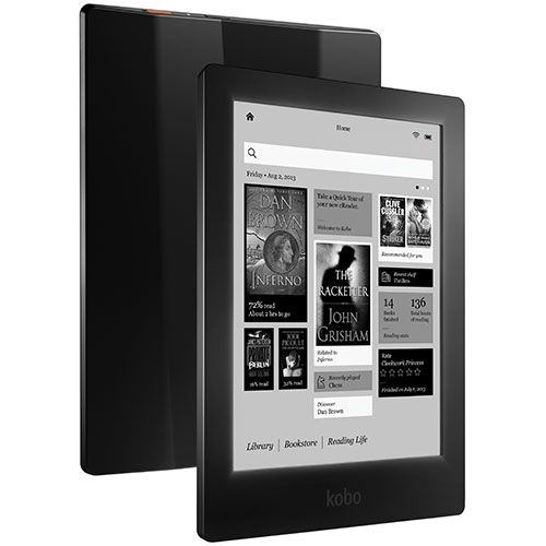Liquidation finale Lecteur électronique Aura avec écran tactile HD de 6,8 po de Kobo - Onyx