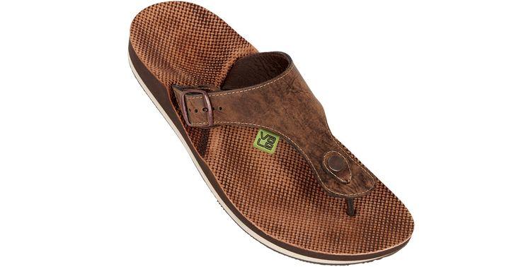 myVALE Flip Flop Zehensandale Herren - Modell Duckbill Oak men braun / beige mit individuellen Fußbett nach Fußabdruck  handmade thong - made in Germany