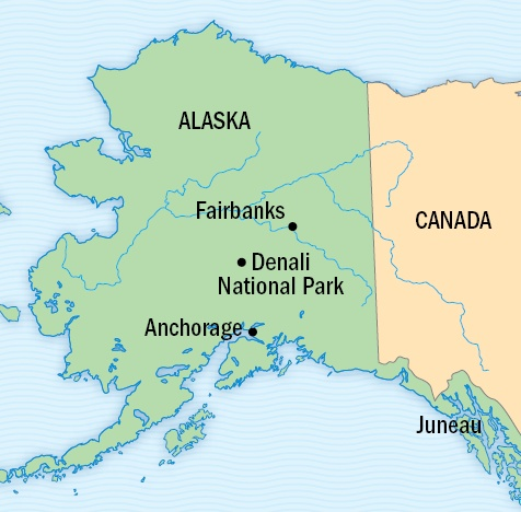 Best The State Of Alaska Images On Pinterest Alaska Alaska - Mt mckinley on us map