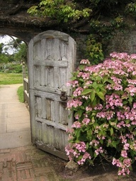 """The door to the """"Secret Garden"""" perhaps, this would look cool at the end of our patio walk"""