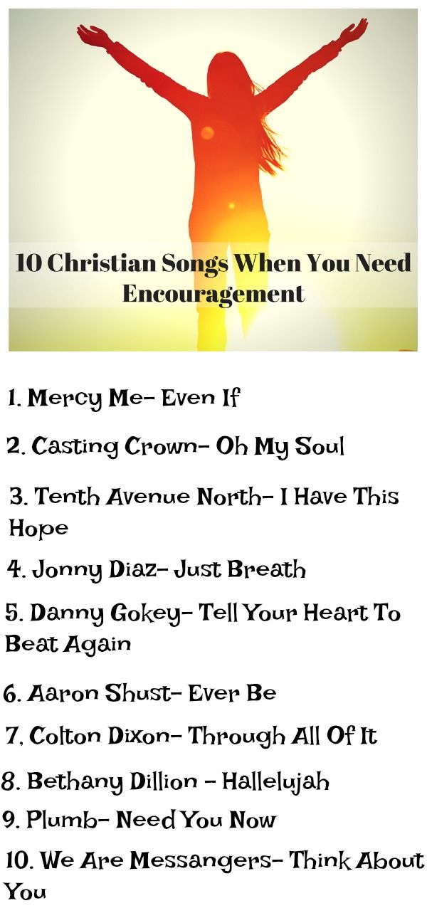 Top 10 Encouraging Christian Playlist