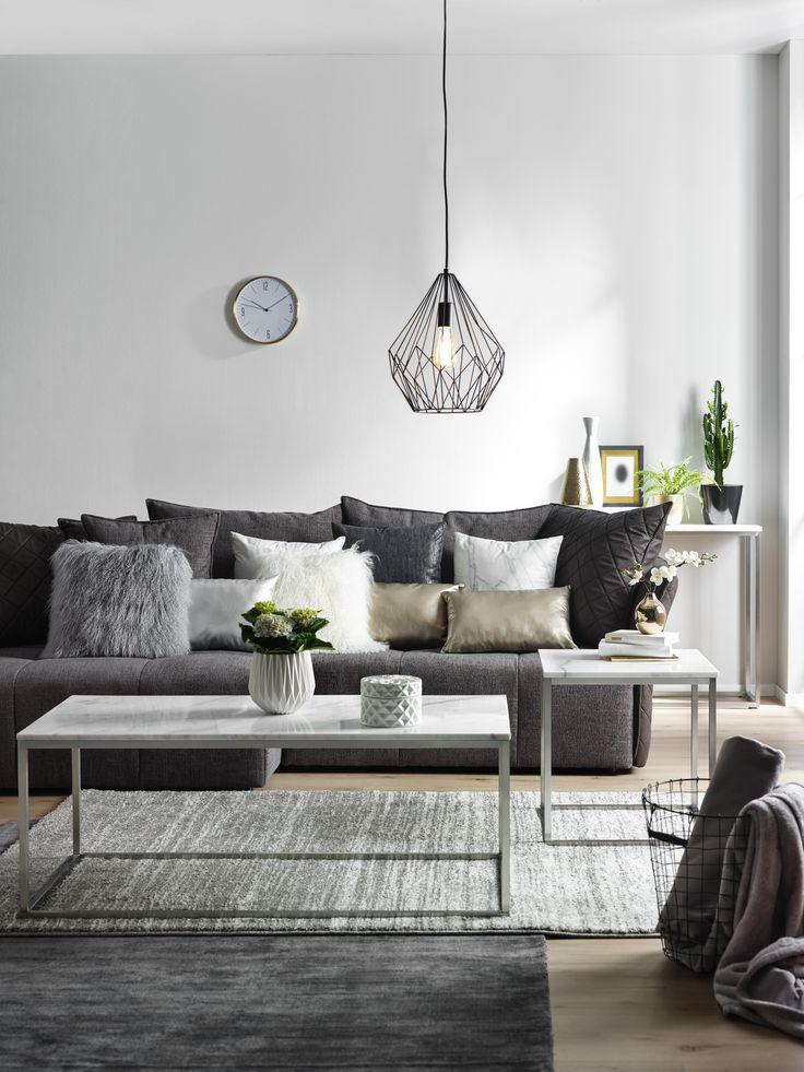 Anthrazit, Grau oder Silber verleihen dem Raum nor…