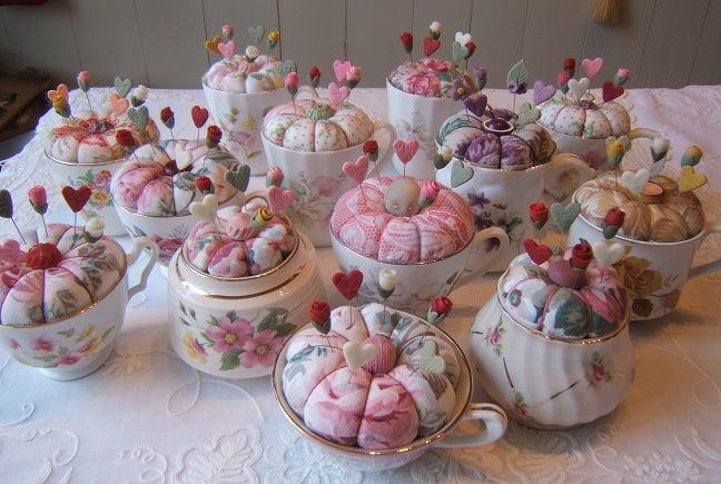 Old Pincushion Cups