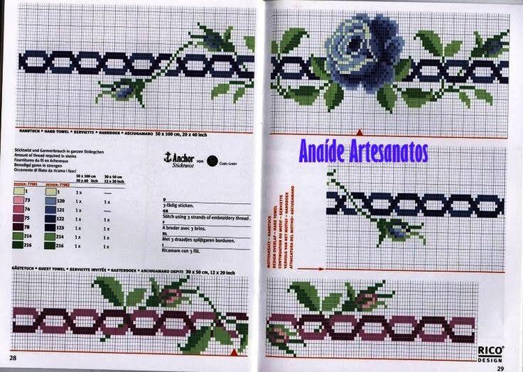 Anaide Ponto Cruz: Lindos gráficos de ponto cruz para toalhas de banho ,deixe seu comentário,muito obrigado por me visita meu blog !!!!