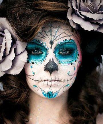 Dia de los Muertos http://www.totalbeauty.com/content/gallery/last-minute-halloween-costume-makeup/p226602/page5