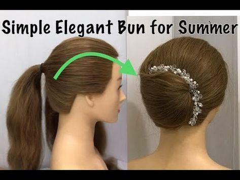 Einfache elegante Brötchen-Juda-Frisur mit Trick | Frisur für Hochzeit & Party | Einfache Frisuren - YouTube