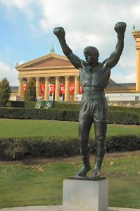 Rocky statue in front of the Philadelphia Museum of Art