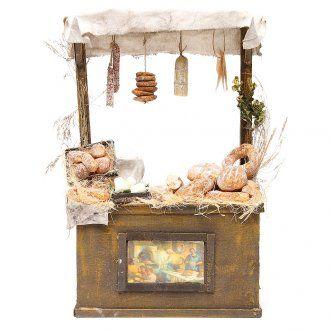 Puesto de mercado de panadero en cera 40x25x10,5 cm | venta online en HOLYART