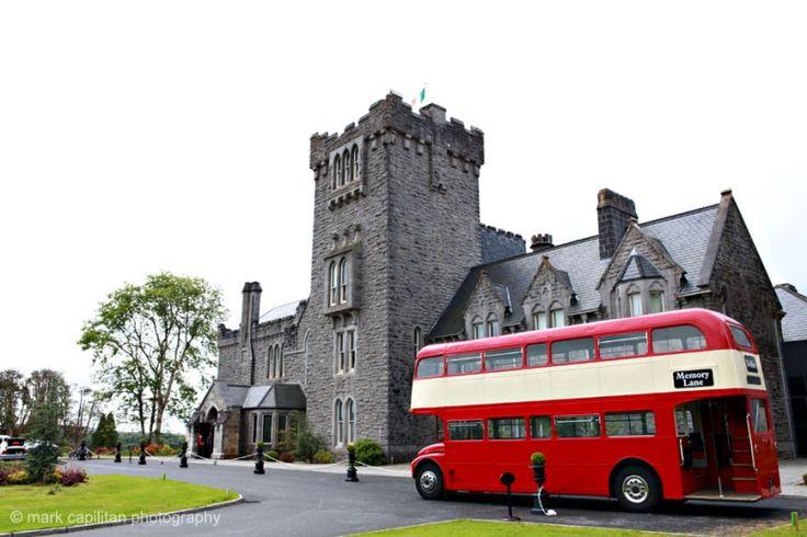 London double decker bus at Kilronan Castle Ireland wedding