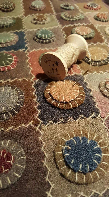 penny rug folk art