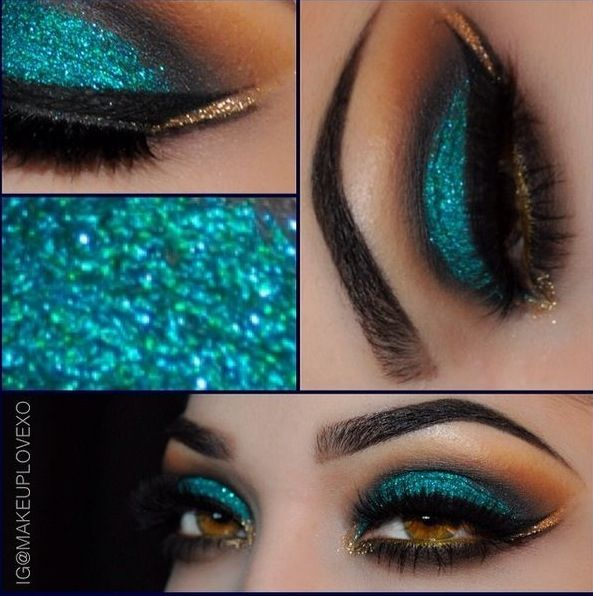 ** Eye Makeup.... Cut Crease Green
