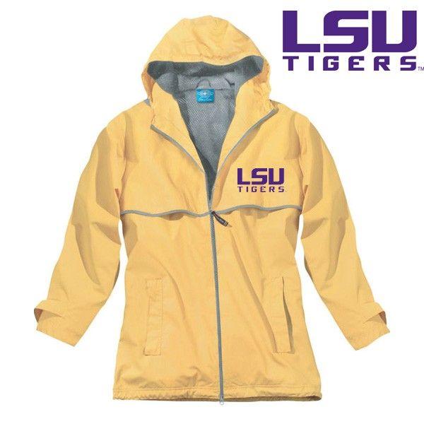 LSU Tigers Charles River New Englander Ladies Rain Jacket