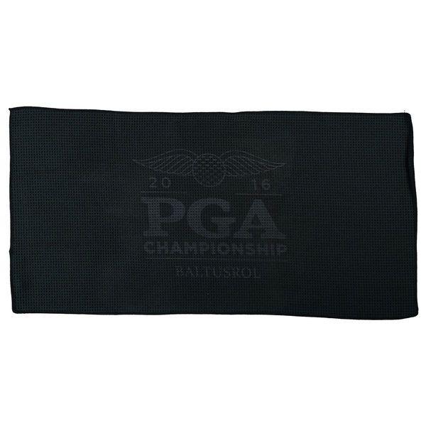 "2016 PGA Championship 16"" x 32"" Ultimate Microfiber Full Color Golf Towel - Black - $8.99"