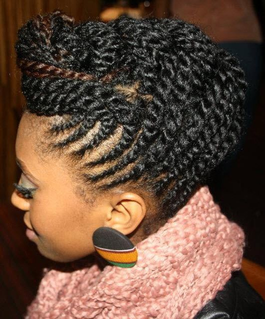 Best 25 flat twist updo ideas on pinterest black hair braiding 18 flat twist updo styles you should try gallery pmusecretfo Image collections