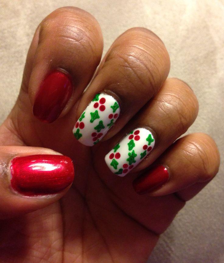 "Danica Nails ""Christmas Holly"""