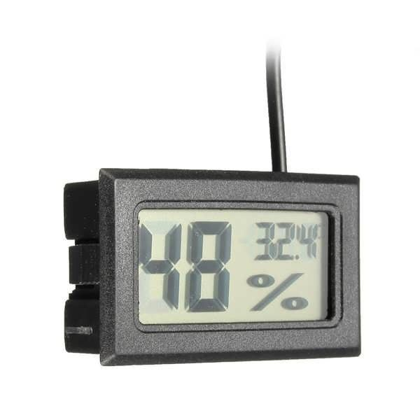Specification:    Dimension: 48 x 28.5 x 15.2mm  LCD Dimension: 36 x 17mm  Measuring Humidity Range: 10%RH to 90%RH  Humidity Accuracy: 5%  Humidity Display Resolution: 1%RH  Measuring Temperature Range: -50℃ to +70℃   Temperature Accuracy: 1℃  Temperature Display Resol...