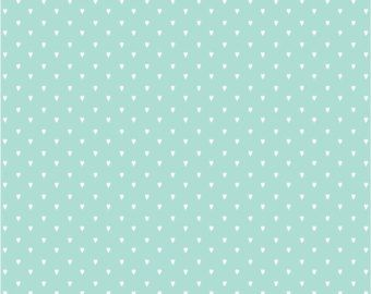 Vinyl wallpaper. Self-adhesive -hearts on aqua (SARA)